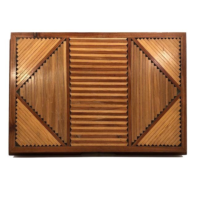 Folk Art Mid-Century Tramp Art Jewelry Box For Sale - Image 3 of 13