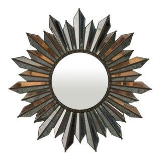 Mid-Century Regency-Style Sunburst Mirror For Sale