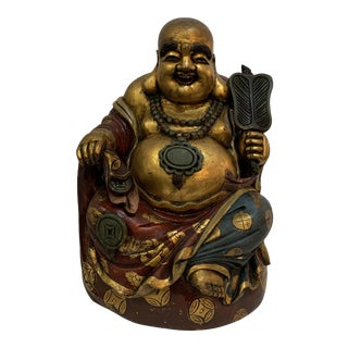 Chinese Laquered Wood Buddha For Sale