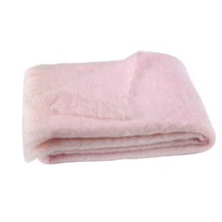 Cotton Candy Brushed Mohair Throw For Sale