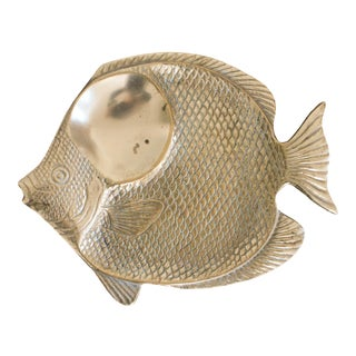 Brass Fish Catchall For Sale