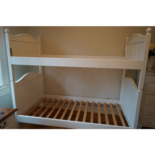 Crate Barrel White Twin Bunk Bed Frame Chairish