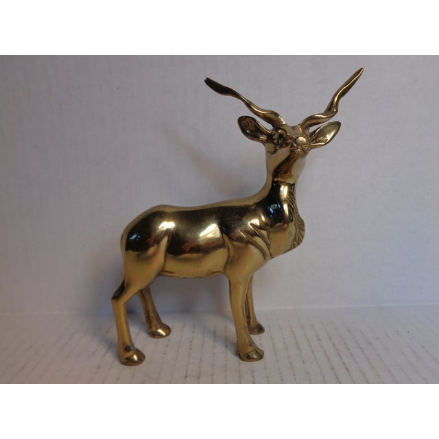 Brass Kudu Figurine - Image 2 of 5