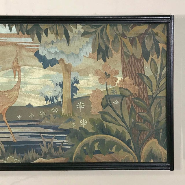 Art Deco Period Flemish Framed Tapestries-a Pair For Sale In Baton Rouge - Image 6 of 13