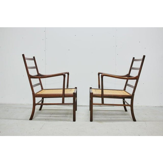 Rosewood Ole Wanscher Colonial Chairs, P. Jeppesens Møbelfabrik, Denmark, 1960s For Sale In Philadelphia - Image 6 of 13