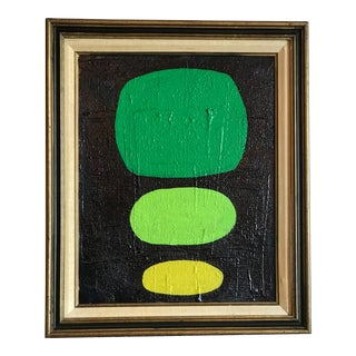 Green Abstract Modern Dots Painting