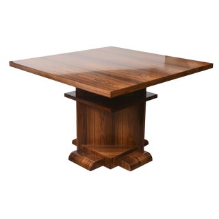 Architectural Larry Lazlo/ Bexley Heath for Widdicomb Square Rosewood Center Table For Sale