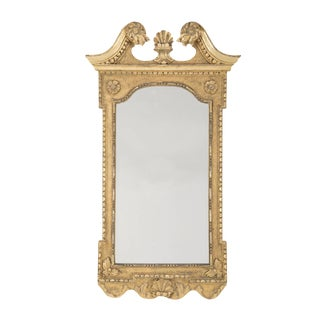 George II Period Carved & Gilded Gesso Looking Glass For Sale