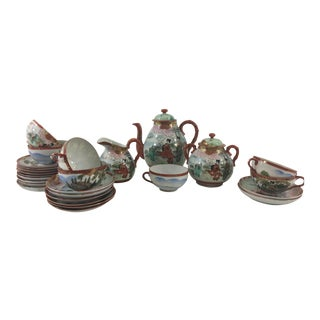 Satsuma Tea Set - Set of 27 For Sale