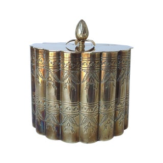 Brass English Moorish-Style Tea Container