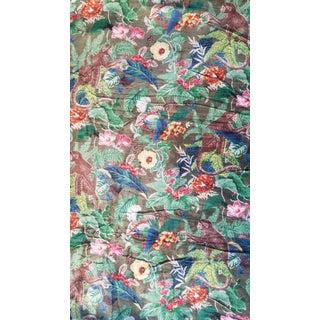 Cotton Velvet Chinoiseri Fabric- 10 Yards For Sale