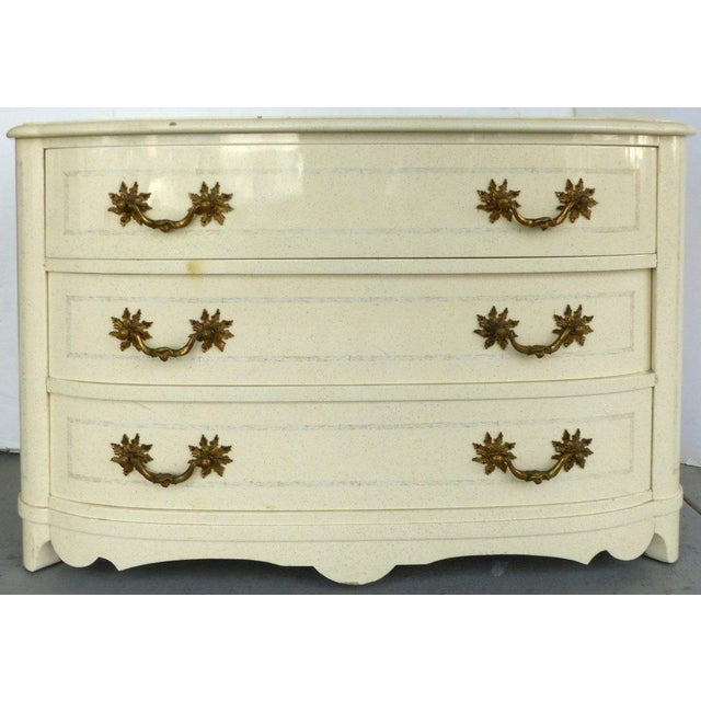 Lacquered Mid-Century Dresser with Ornate Hardware - Image 2 of 7