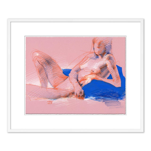 Figures, Set of 4 by David Orrin Smith in White Frame, XS Art Print For Sale - Image 9 of 11