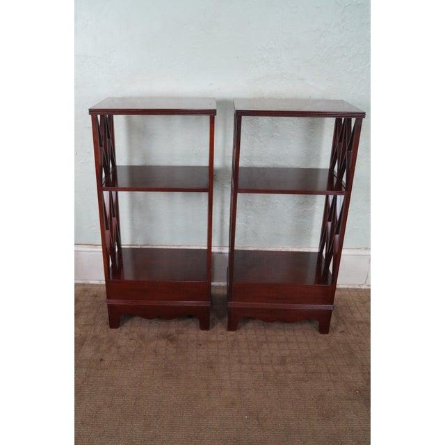 Baker Small Narrow Mahogany Bookcases - A Pair - Image 4 of 10