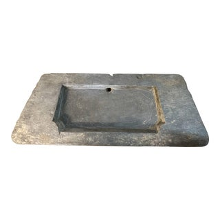 Large 18th Century Belgian Bluestone Sink For Sale