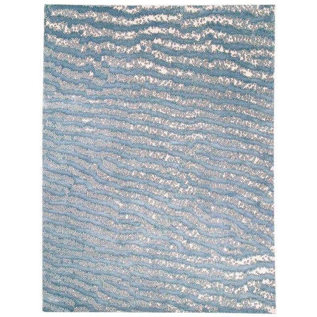 Contemporary/Abstract Area Rug by Carini, 9'x12' For Sale