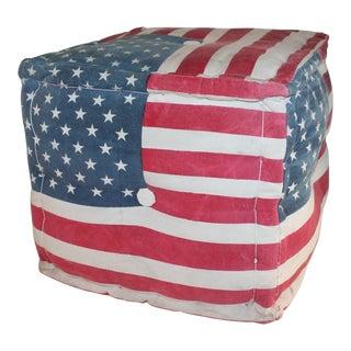 American Flag Ottoman For Sale