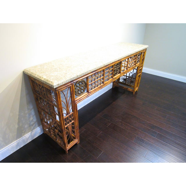 Maitland Smith Chippendale Style Console - Image 3 of 6