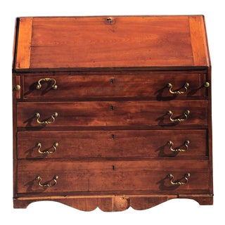 1900s English Writing Secretary Desk and Chest For Sale