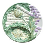 Image of Antique French Majolica Asparagus Plate For Sale