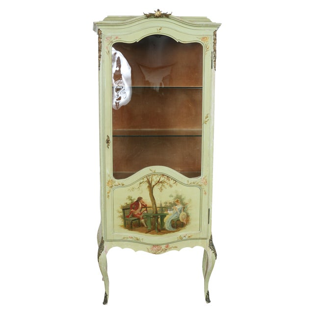 1920 French Style Hand Painted Cabinet - Image 1 of 11