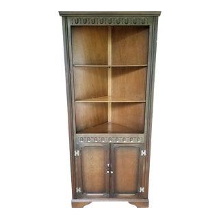 Antique Oak Corner Cabinet For Sale