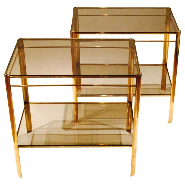 Malabert 2-Tier Side Tables - A Pair - Image 1 of 5