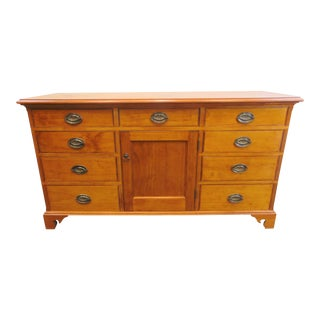 Country Chippendale Benchmade Sideboard/ Media Cabinet For Sale
