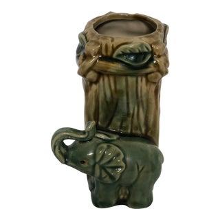 Asian Chinoiserie Elephant Vase