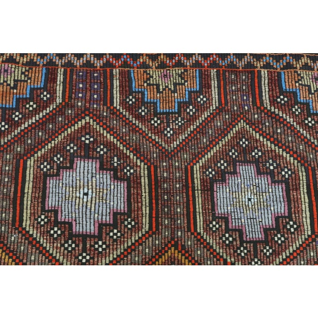 "Vintage Turkish Kilim Rug-7'6'x9'6"" For Sale - Image 6 of 13"