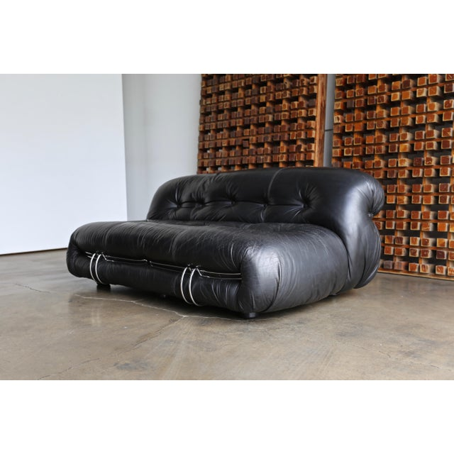 Modern Soriana Settee by Afra & Tobia Scarpa for Cassina For Sale - Image 3 of 13