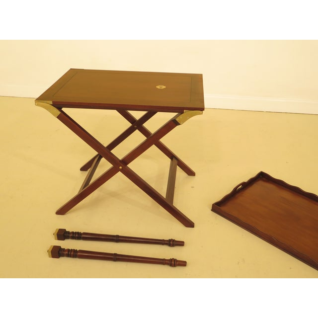 Baker Mahogany Serving Tray Table For Sale In Philadelphia - Image 6 of 13
