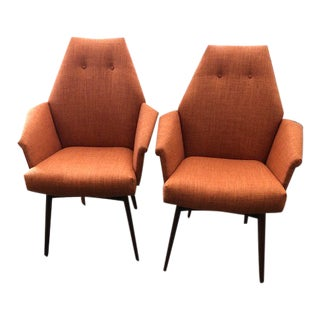 Adrian Pearsall Arm Chairs - a Pair For Sale