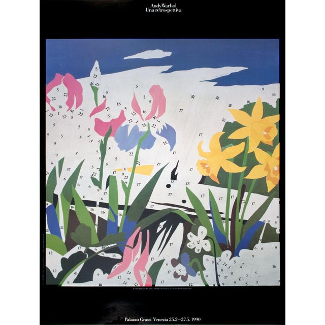 Modern 1990 Andy Warhol Do It Yourself (Flowers) Poster For Sale - Image 3 of 3
