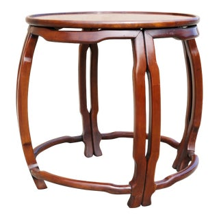 "Vintage Drexel Heritage ""Ming Treasure"" Round Side Table For Sale"
