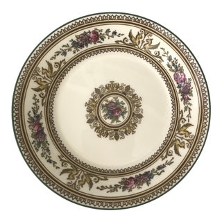 Wedgewood China Columbia White With Medallion and Green Trim-12 Fruit/Dessert Bowls For Sale