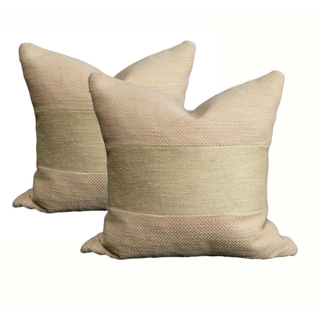 Natural Linen Pillows - a Pair - Image 2 of 5