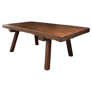 French 19th Century Walnut Coffee Table For Sale