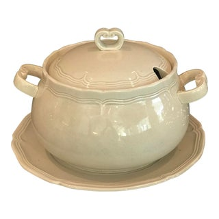 1970s Japanese Lidded Soup Tureen and Charger For Sale