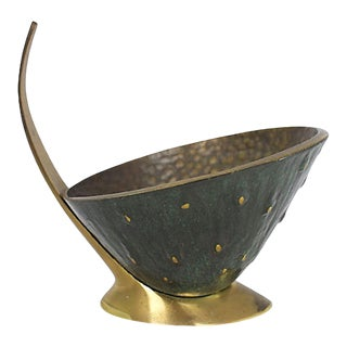Mid Mod Brass Catchall For Sale