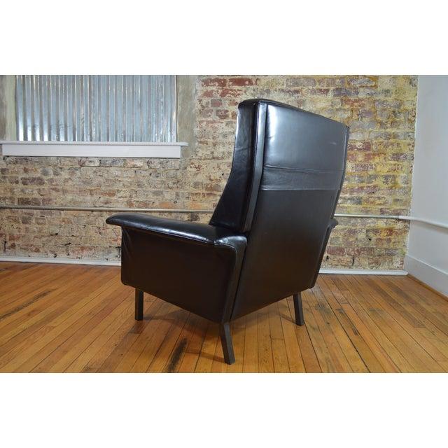 Arne Vodder for Fritz Hansen Danish Modern Leather Easy Chair For Sale - Image 5 of 7