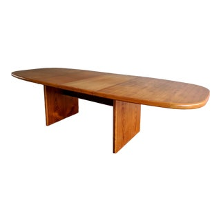 "1970s Danish Modern 110"" Teak Dining Table For Sale"