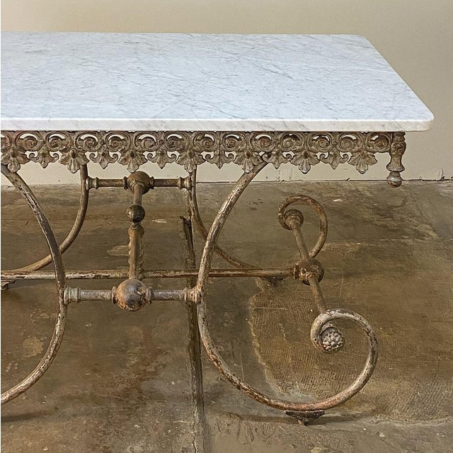 Late 19th Century 19th Century Iron Marble Top Confectioner's Table For Sale - Image 5 of 13