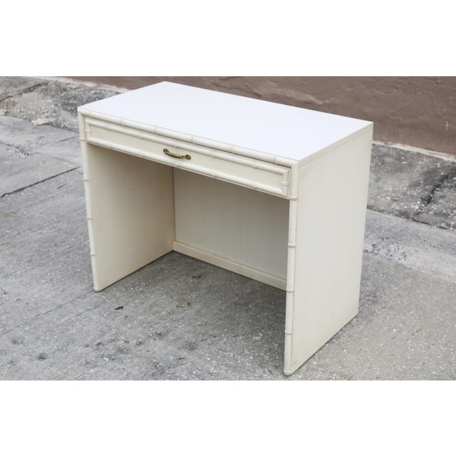 Vintage Dixie Faux Bamboo Writing Desk For Sale - Image 12 of 12