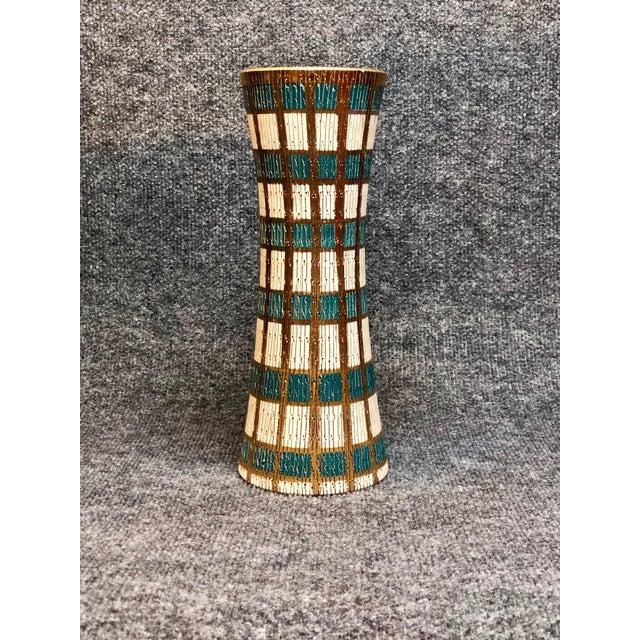 Beautiful Mid Century Italian vase. Fantastic colors and texture.