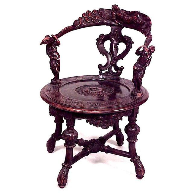 Italian Italian Renaissance Walnut Arm Chair For Sale - Image 3 of 3