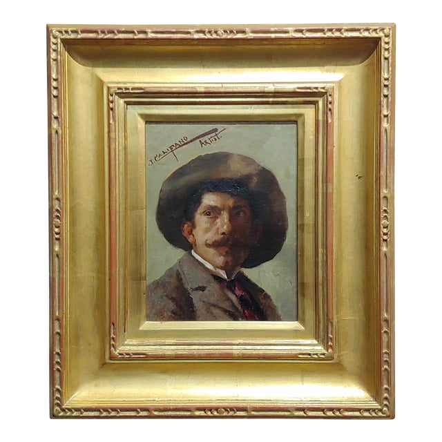 John Califano -Artist Self Portrait -California Impressionist -Oil Painting For Sale