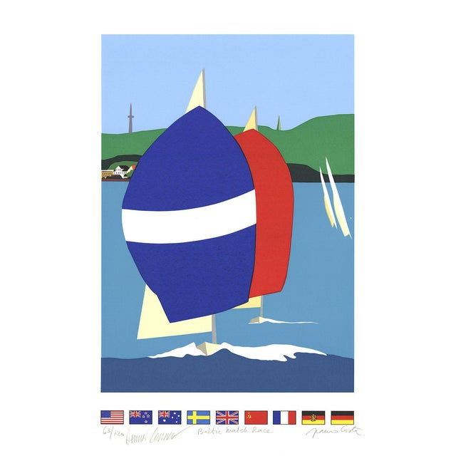 Franco Costa-Baltic Match Race-Serigraph-SIGNED For Sale