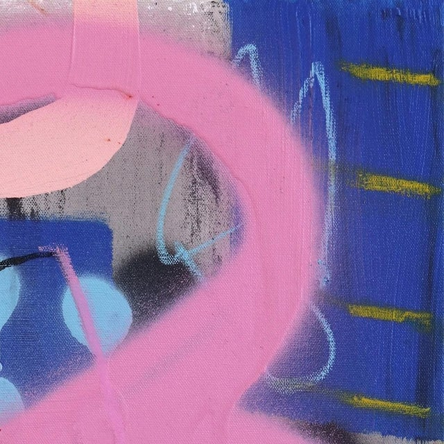 """Abstract Sarah Svetlana """"No One Cares About Your Kid Judith"""" Original Painting For Sale - Image 3 of 9"""
