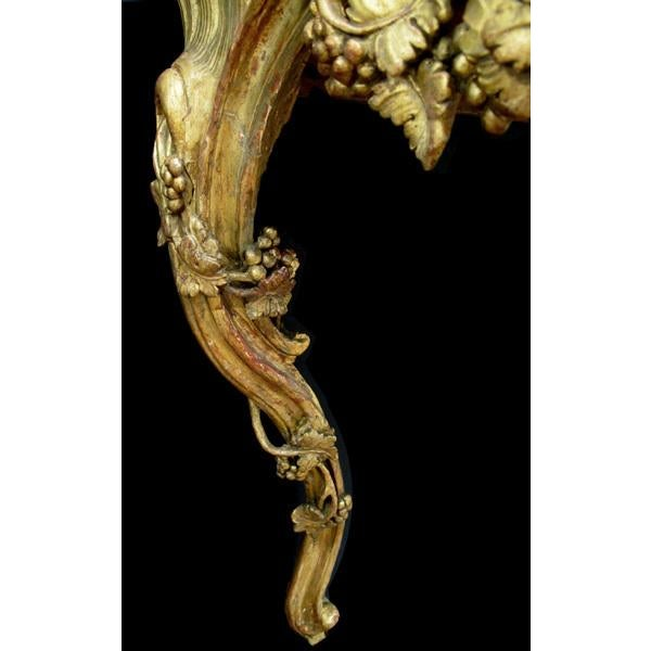 A Finely Carved Venetian Rococo Giltwood Console with Marble Top For Sale In San Francisco - Image 6 of 7